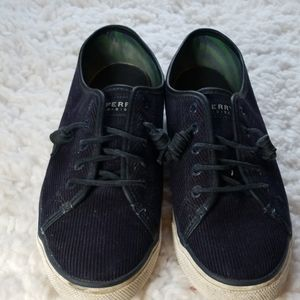 Sperry Navy Corduroy Topsiders Sz 10